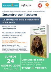 La scomparsa della biodiversità sulla Terra - Incontro con l'autore Gabriele Bertacchini