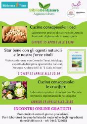 BiblioBenEssere - Laboratorio online di cucina consapevole: i ceci. Con Daniela Bonizzoli.