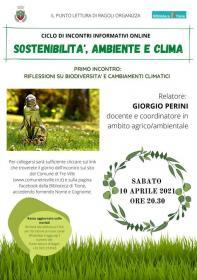 Sostenibilità, ambiente e clima - Riflessioni su biodiversità e cambiamenti climatici  Biblioteca Tione di Trento