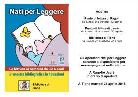 Mostra Nati per leggere  Biblioteca Tione di Trento