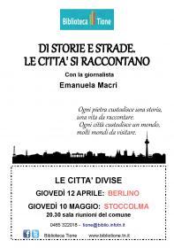Di storie e strade. Le città si raccontano con Emanuela Macrì Biblioteca Tione di Trento