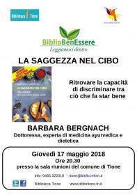 Bibliobenessere - La saggezza nel cibo con Barbara Bergnach Biblioteca Tione di Trento