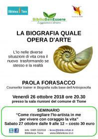 Seminario: Come risvegliare l'Io-artista in me per vivere con coraggio la mia vita Biblioteca Tione di Trento