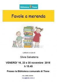Favole a merenda con Silvia Salvaterra Biblioteca Tione di Trento