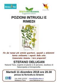 Pozioni, intrugli e rimedi con Stefano Delugan Biblioteca Tione di Trento