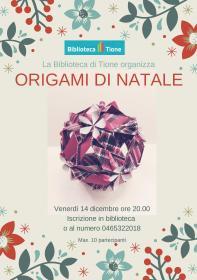 Origami di Natale con Barbara Mosca Biblioteca Tione di Trento