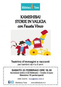 Kamishibai storie in valigia con Fausta Vinco Biblioteca Tione di Trento