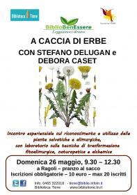 BiblioBenEssere - A caccia di erbe, con Stefano Delugan e Debora Caset Biblioteca Tione di Trento