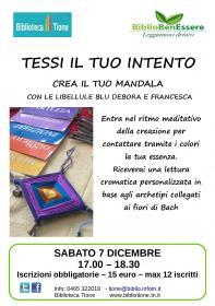 Tessi il tuo intento, crea il tuo mandala Biblioteca Tione di Trento