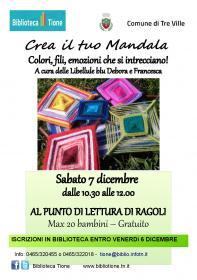 RAGOLI - Crea il tuo mandala Biblioteca Tione di Trento
