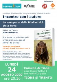 La scomparsa della biodiversità sulla Terra - Incontro con l'autore Gabriele Bertacchini Biblioteca Tione di Trento