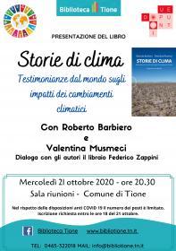 Storie di clima incontro con Roberto Barbiero e Valentina Musmeci Biblioteca Tione di Trento