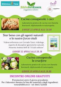 BiblioBenEssere - Star bene con le nostre forze vitali e gli agenti naturali con Corrado Tanzi Biblioteca Tione di Trento