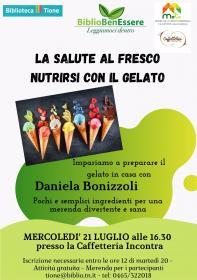 BiblioBenEssere: La salute al fresco, nutrirsi con il gelato. Biblioteca Tione di Trento