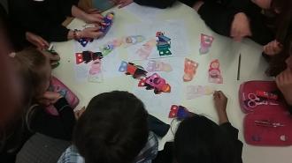6 giugno 2016: Un libro per gioco, attività con le prime della scuola primaria di Tione.