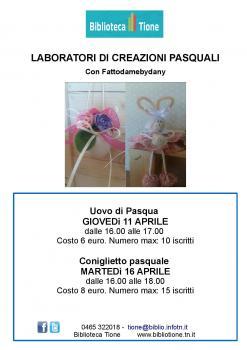 Laboratori di creazioni pasquali con Fattodamebydany - Coniglietto