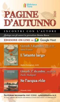 Pagine d'autunno -Se l'acqua ride presentazione online con Paolo Malaguti